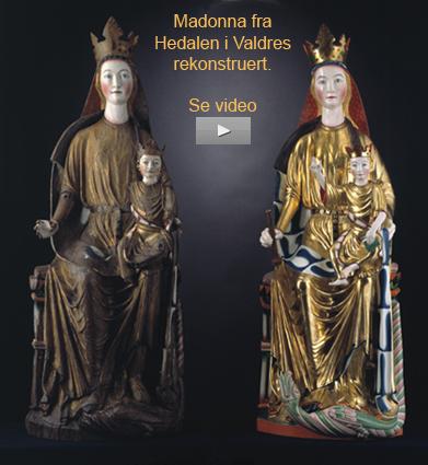 Rekonstruksjon av Madonna fra Hedalen i Valdres med original materialer og teknikker